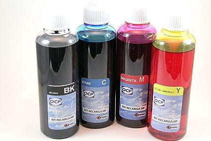 Kit de Recarga para Cartuchos de Tinta HP 301-301XL (Incluye Clip y Accesorios + Tinta 400 ml para Cartuchos 301-61-122-802) Negro y Tricolor: Amazon.es: Oficina y papelería