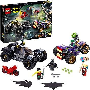 Oferta amazon: Super Heroes Comics DCBatmanPersecución de la Trimoto del Jokercon el Batmóvil y las Minifiguras de HarleyQuinnyRobin, multicolor (Lego ES 76159)