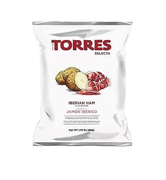 Torres Patatas Fritas, Sabor a Jamon Iberico - 20 Bolsas ...