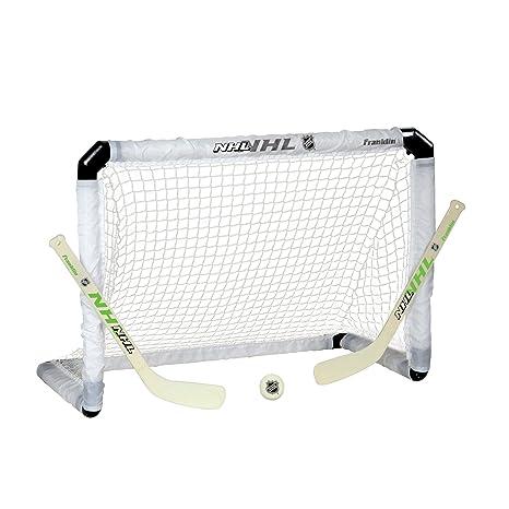 d99760122ee Amazon.com   Franklin Sports Mini Hockey Goal Set - NHL - Glow In ...