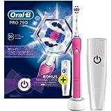 Elektrische Zahnbürste Oral B Pro 750Pink mit Reise-Etui, rosa
