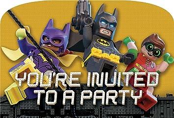 81%2BtCafRVML._SX355_ dc comics lego batman movie party invitations 8pk amazon co uk,Lego Batman Movie Invitations