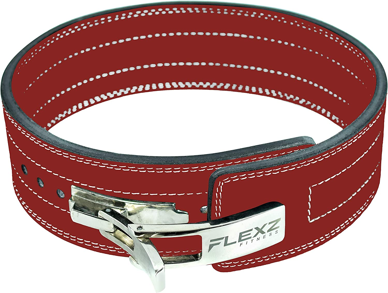 """Womens 6/"""" Leather Weight Lifting Belt for Lower Back Support Gym Workout Belt"""