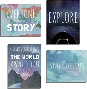 Explore Collection of Four 12x18 Inch Print Wall Art Prints, Typography, Nursery Decor, Kid's Wall Art Print, Kid's Room Decor, Gender Neutral, Motivational Word Art, Inspirational
