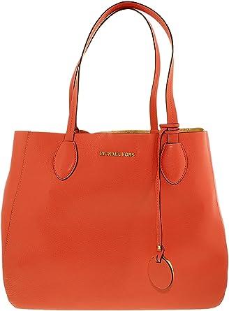 c2969e0c6a2c26 Amazon.com: MICHAEL MICHAEL KORS Mae Large Leather Reversible Tote (Peach  Grapefruit/Pale Gold): Michael Kors: Clothing