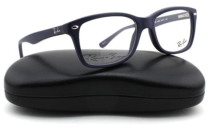8b789062e83c4 Amazon.com  Ray-Ban RX5228 Square Unisex Eyeglasses (Sand Blue Frame ...