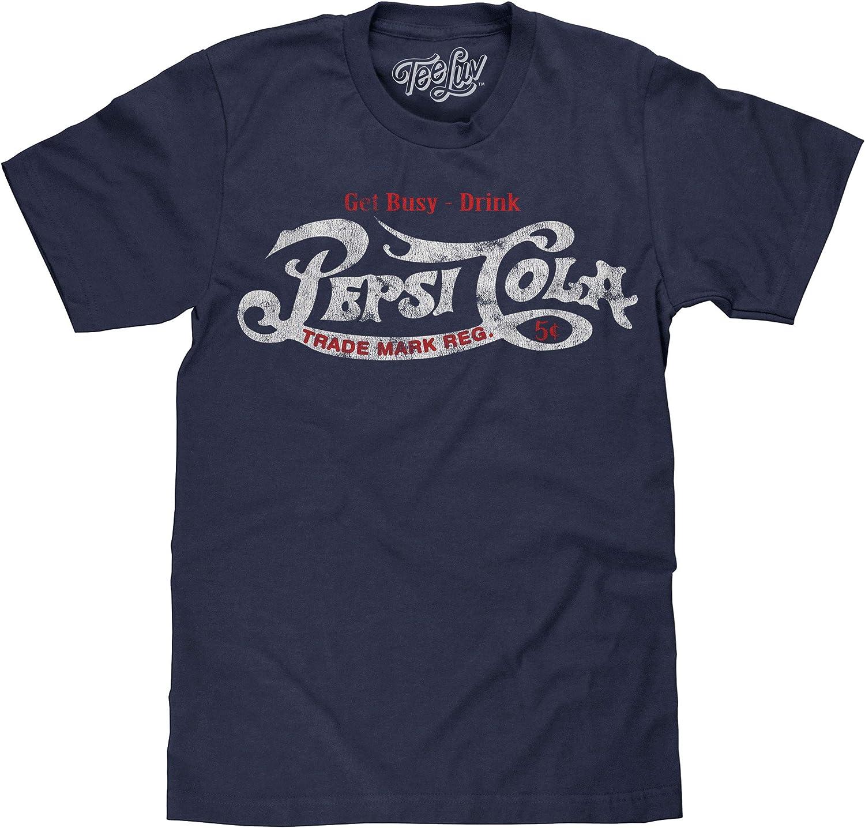 Tee Luv Pepsi Camisa – Get Busy Drink Pepsi Cola Playera (Azul Marino Heather) - Azul - 3X-Large: Amazon.es: Ropa y accesorios