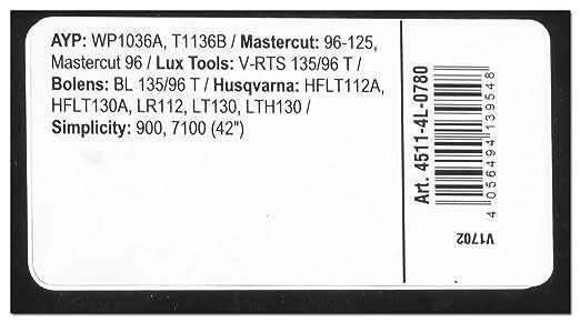 Arnold 4511 - 4L de 0780 X de Grip - Correa trapezoidal, 4l780 ...