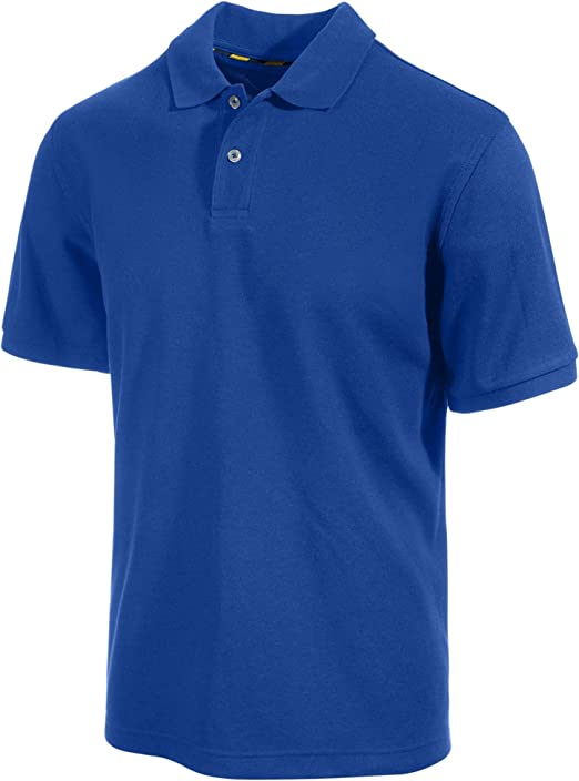 Clubroom Short Sleeve Solid Blue Polo Shirt Size Small