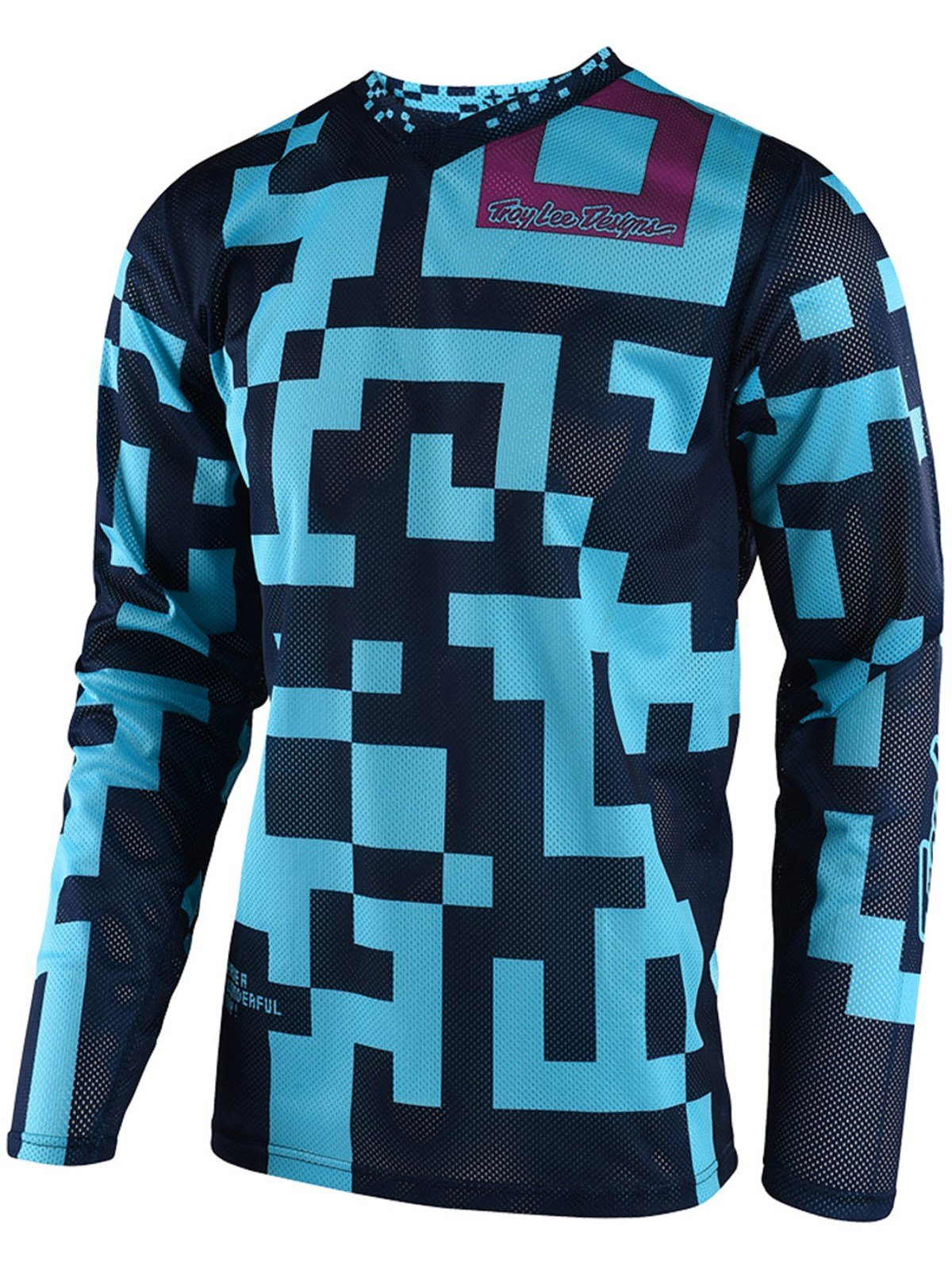 Troy Lee Designs GP Air Maze Men's Off-Road Motorcycle Jersey - Turquoise/Navy / Medium