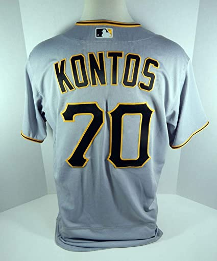 cheap for discount f6022 ef386 2017 Pittsburgh Pirates George Kontos #70 Game Used Grey ...
