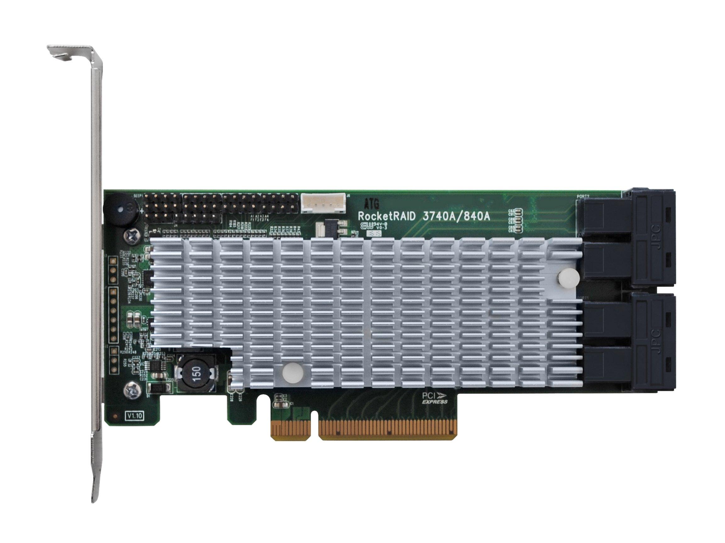 HighPoint RocketRAID 3740A 12Gb/s PCIe 3.0 x8 SAS/SATA RAID Host Bus Adapter by High Point