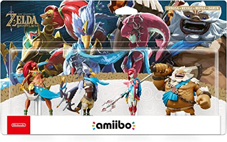Nintendo - Pack de 4 Figurinas Amiibo Daruk, Mipha, Revali, Urbosa, Serie Zelda: Amazon.es: Videojuegos
