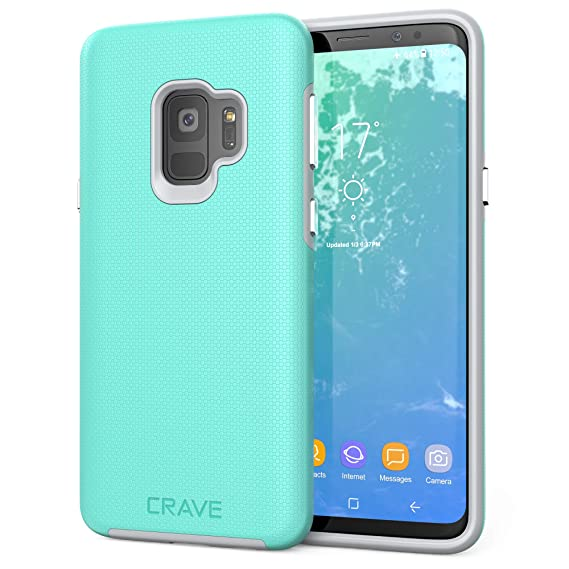 innovative design a62db bafbf S9 Case, Crave Dual Guard Protection Series Case for Samsung Galaxy S9 -  Mint/Grey