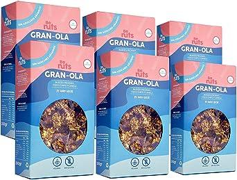 Be Nuts: Gran-Ola | Edición Especial | Avena Sin Gluten | Gluten Free | Cereal free | Vegan | Sugar Free | Granola 350gr x 6