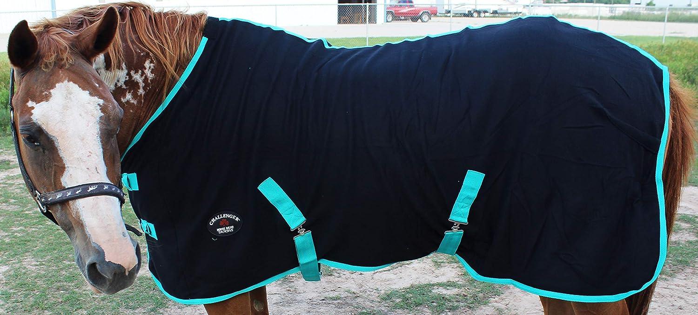 Horse Exercise Sheet Polar Fleece Cooler Blanket Wicks Moisture Turquoise 4350