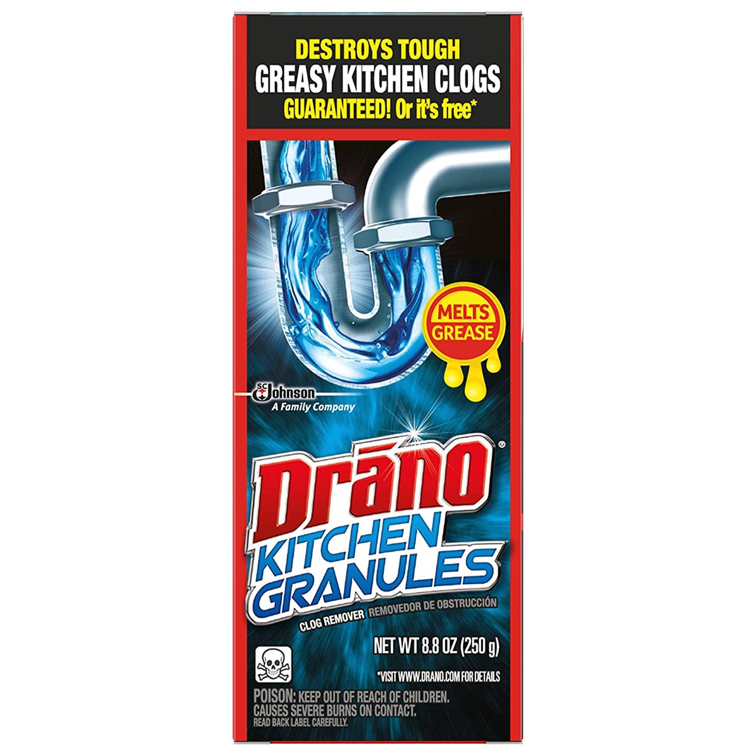 Amazon.com: Drano Kitchen Granules Clog Remover, 8.8 Ounce: Health ...