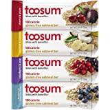 Toosum 100-Calorie Gluten-Free Vegan Oatmeal Bars, Variety Pack, 20 Count