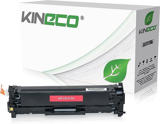Kineco Toner Kompatibel Mit Hp Ce413a Für Hp Laserjet Pro 300 Color M351a Mfp M375nw Laserjet Pro 400 Color M451dn Dw Nw M475dn Dw 305a Magenta 2 600 Seiten Bürobedarf Schreibwaren