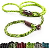 Friends Forever Extremely Durable Dog Slip Rope Leash, Premium Quality Mountain Climbing Rope Lead, Strong, Sturdy…