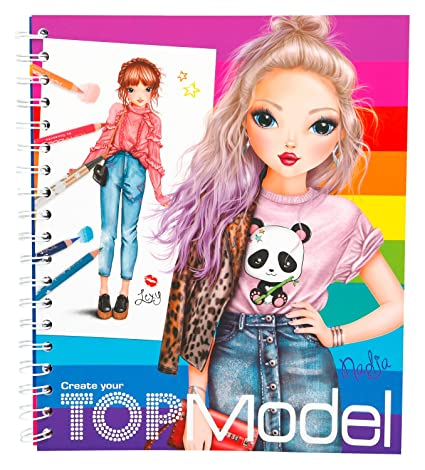 Buy Depesche 5028 Colouring Book Create Your Top Model