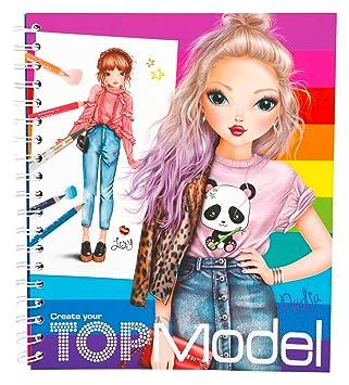 Coloriage Fille Avec Modele.Depesche Livre A Colorier Create Your Top Model Telegram 5028