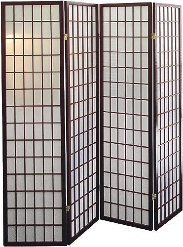 ACME 02277 Naomi 3-Panel Wooden Screen, Cherry Finish Cherry, 4 panel