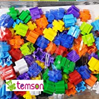 TEMSON Colorful Creative Multivariant Particlesn Blocks Educational and Learning Assembled Building and Construction Blocks for Kids (321 I)