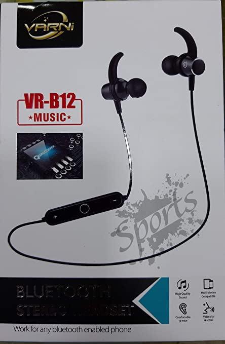 14ea6fa0693 RPATEL for VARNI VR-B12 Music Bluetooth Stereo Wireless Bluetooth Headset  with Mic