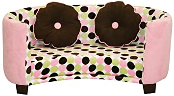 Exceptional Newco Kids Comfy Chair, Sofa Pink With Chocolate Dots