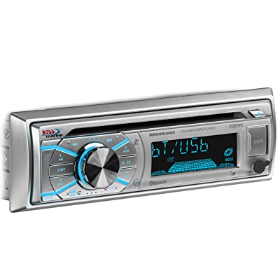 BOSS Audio Systems MR508UABS Marine Stereo - Single Din, Bluetooth, CD MP3 WMA USB AM FM Radio, Weatherproof: Car Electronics [5Bkhe0417066]