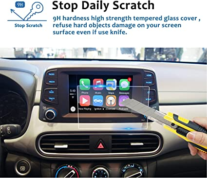 Tempered Glass Infotainment Center Touch Screen Protector Anti Scratch High Clarity LiFan US01CMMG8.4 LFOTPP 2013-2016 Maserati Ghibli 8.4 Inch Car Navigation Screen Protector, 9H