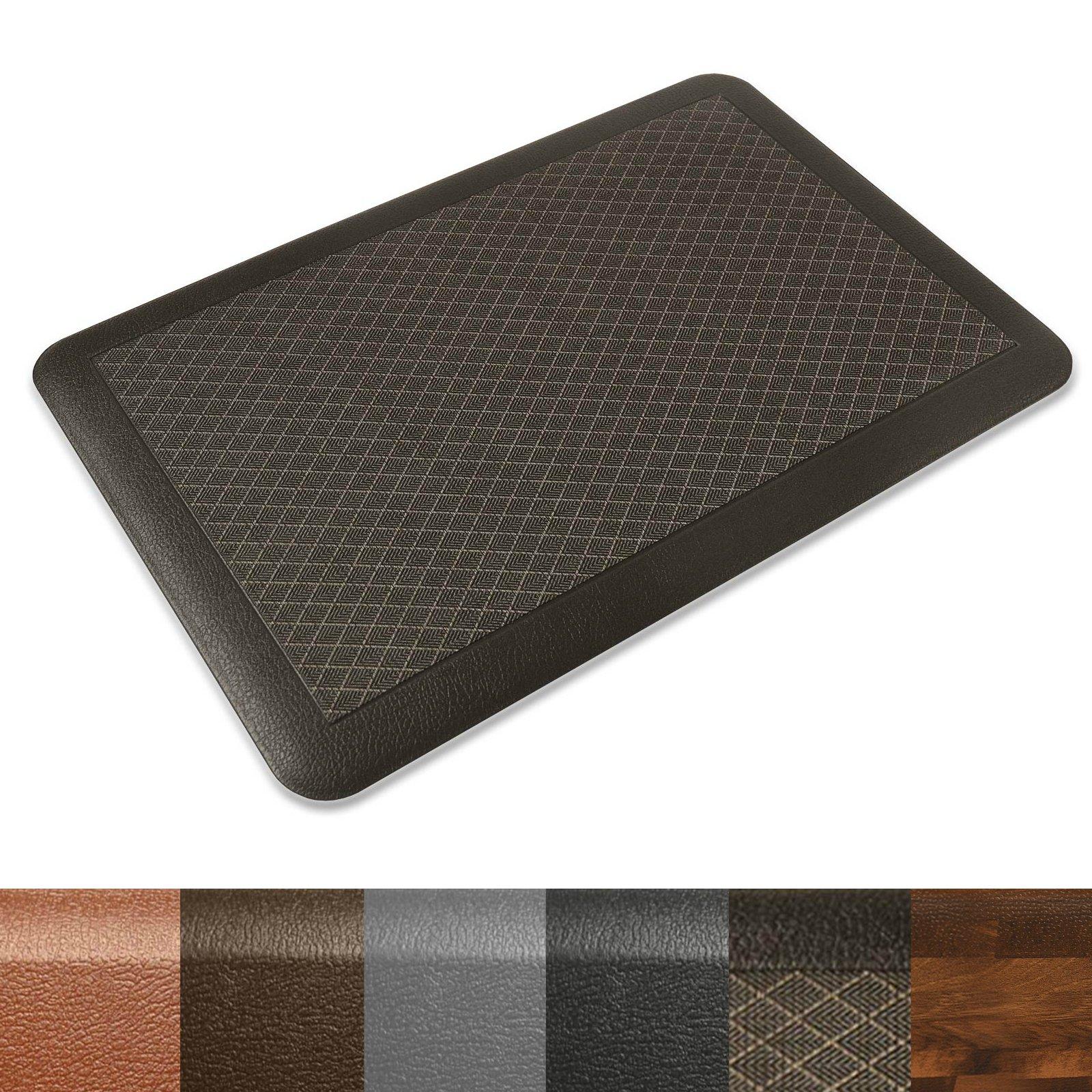 Kitchen Mat | Anti Fatigue Mat, 3/4 Thick | Ergonomically Engineered, Non-Slip, Waterproof | 20''x30'' - Dark Brown by casa pura