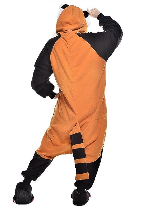 Amazon.com: Newcosplay Unisex Adult Pajamas Raccoon Halloween Animal Costume: Clothing