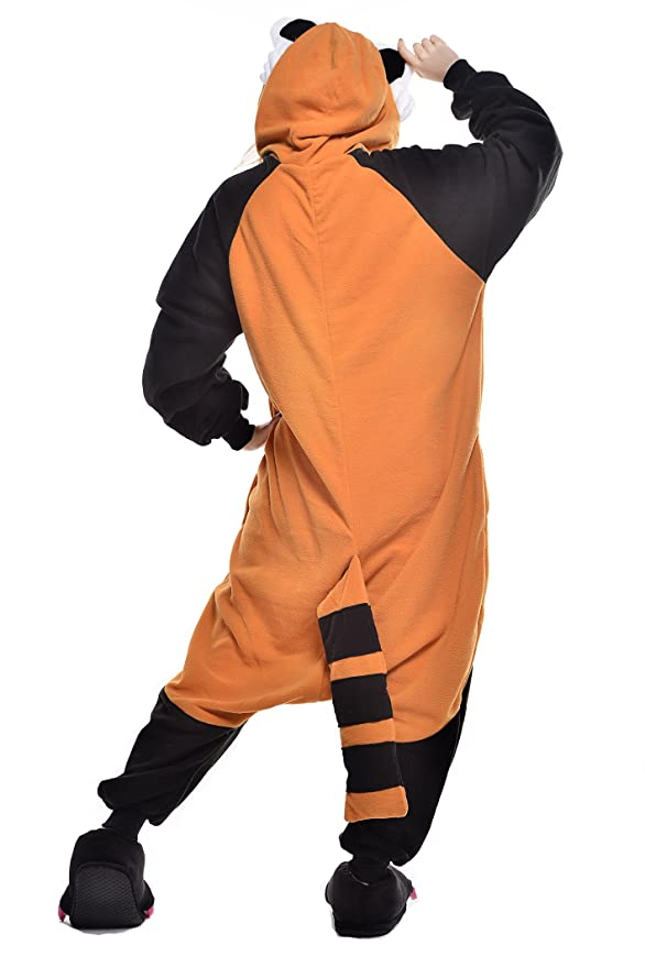 Amazon.com: Newcosplay Unisex Adult Pajamas Raccoon Halloween Animal Costume: Clothing
