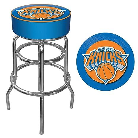 Amazon Com Nba New York Knicks Padded Swivel Bar Stool Home Bars