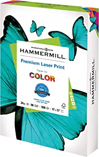 product image for Hammermill Printer Paper, Premium Laser Print 24 lb, 11 x 17-1 Ream (500 Sheets) - 98 Bright, Made in the USA