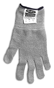 Microplane 34007 Cut Resistant Glove Keep Hands Safe in The Kitchen, One Size silver