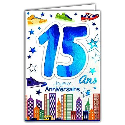 69-2015 - Tarjeta feliz cumpleaños de 15 años para niños y ...