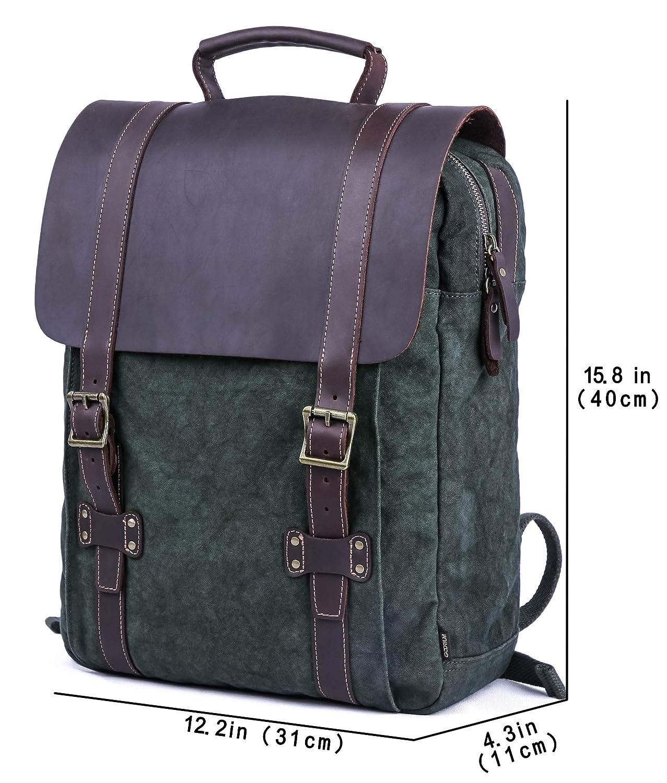 Gootium Tie-Dyed Backpack – Canvas Leather Travel Daypack Vintage Rucksack