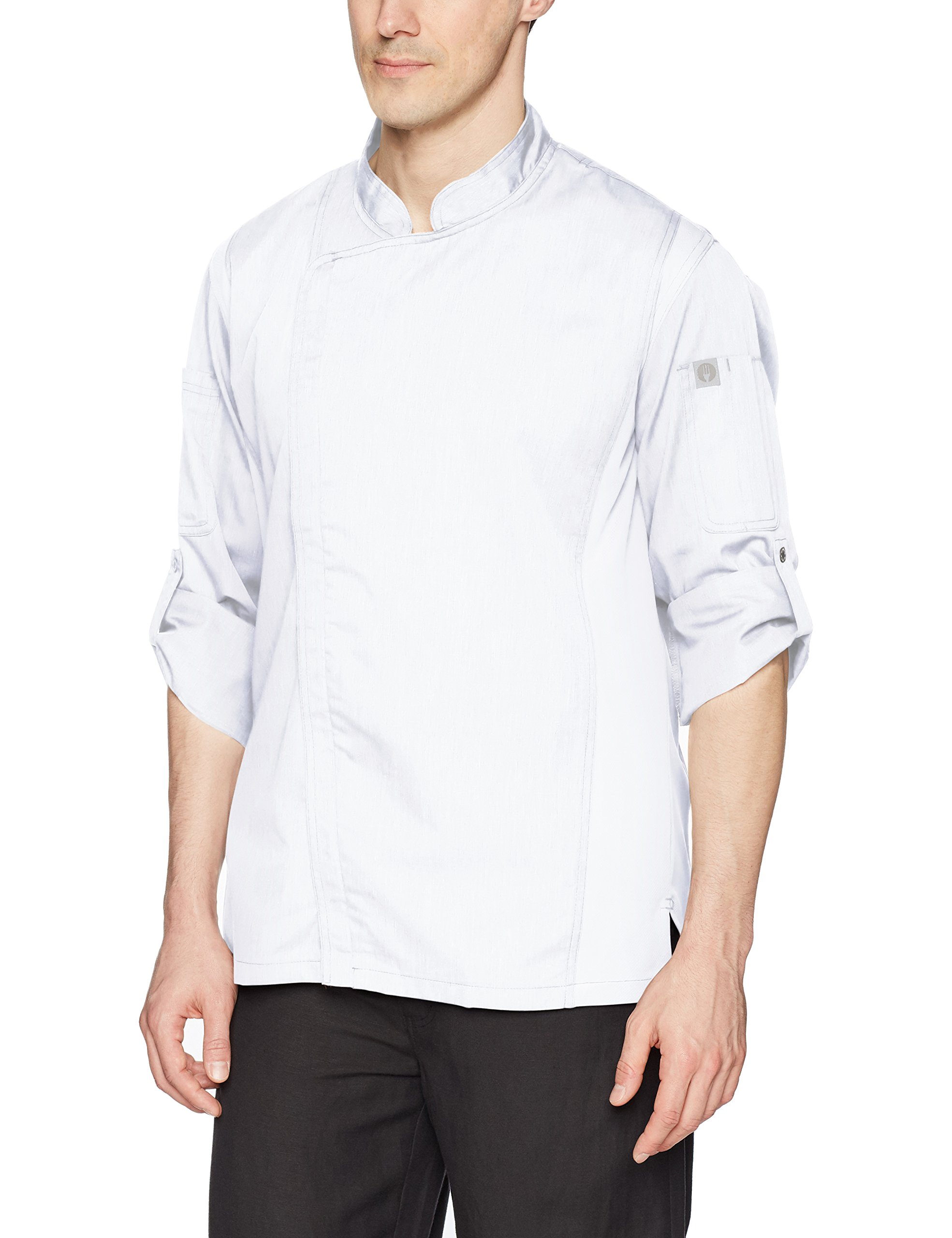 Chef Works Men's Hartford Chef Coat, White, Medium