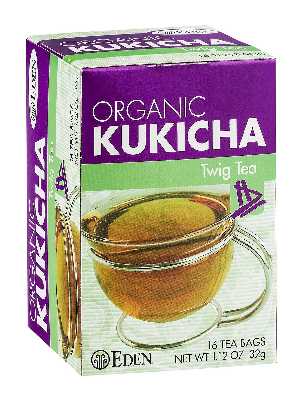 B000LKTJUG Eden Twig Tea, Tea Bags, Kukicha, Eden Organic 1.12-Ounce Boxes (Pack of 12) 812BtVM6ClxL