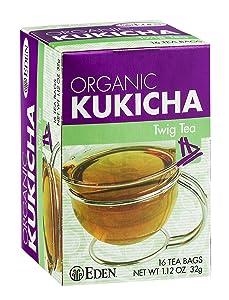 Eden Twig Tea, Tea Bags, Kukicha, Eden Organic 1.12-Ounce Boxes (Pack of 12)