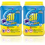 All Mighty Pacs, Stainlifter, Super Concentrated Laundry Detergent Pacs, 72 Count (Tub), FFP (Pack of 2)