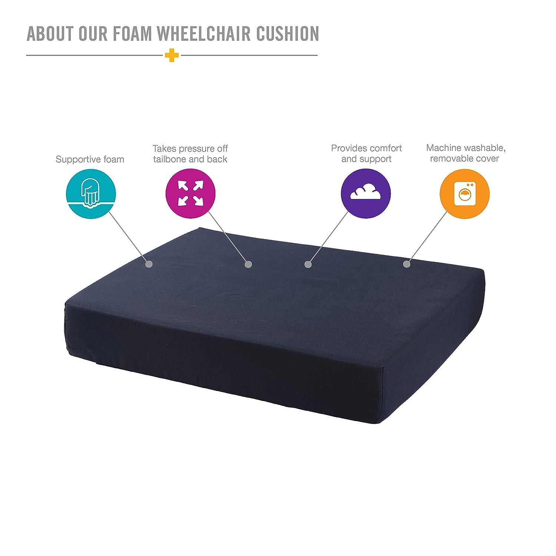 Amazon.com: Duro-Med Wheelchair Cushion, Wheelchair Seat Cushion ...