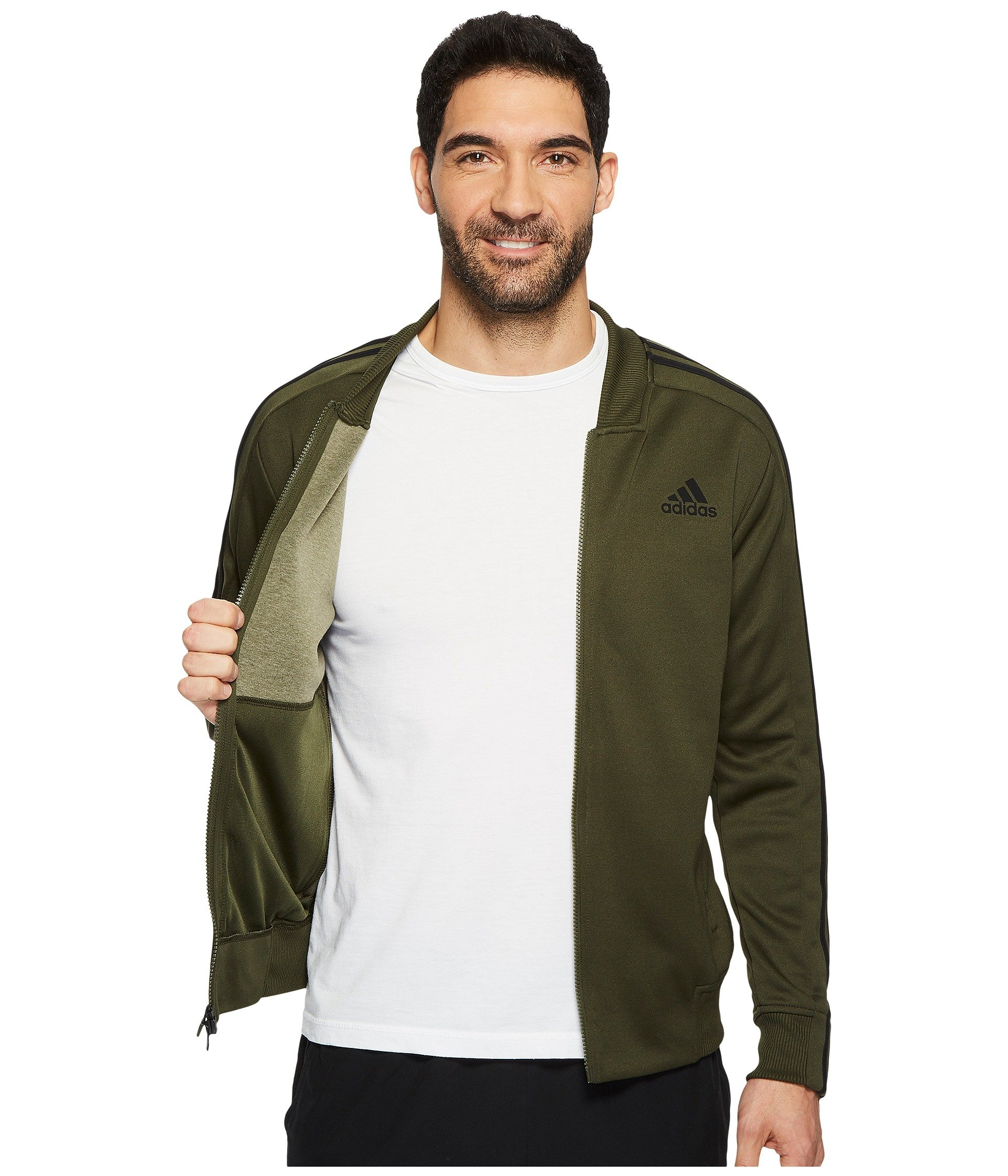 adidas Men's Sport ID Track Bomber Jacket Night Cargo Small by adidas (Image #6)