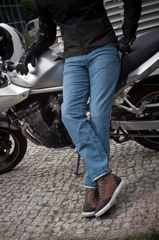 Kevlar Herren Motorradhose Jeans Sas-Tec Mit Protektoren Sommer 32-38L, Blau Shima GRAVEL INDYGO BLUE