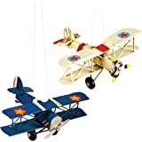 Gallerie II - Vintage Biplane Airplane Holiday Ornament, Assortment of 2