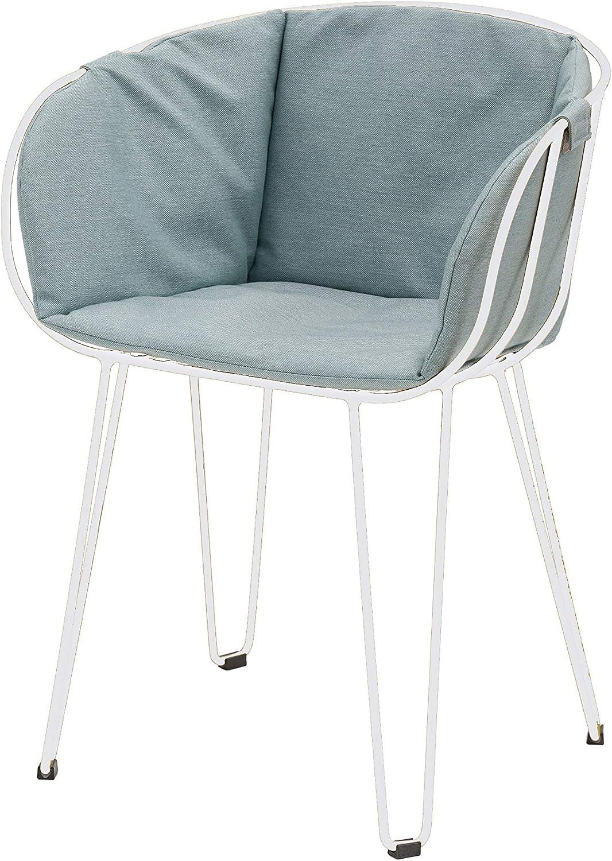 DUAMY Set de Dos sillas y una Mesa para el jardín. Sillas Modernas para terraza Mesa Redonda de 110 x 70 x 74 cm. Set Moderno para Disfrutar de barbacoas al Aire Libre con Tus Amigos o Familiares.