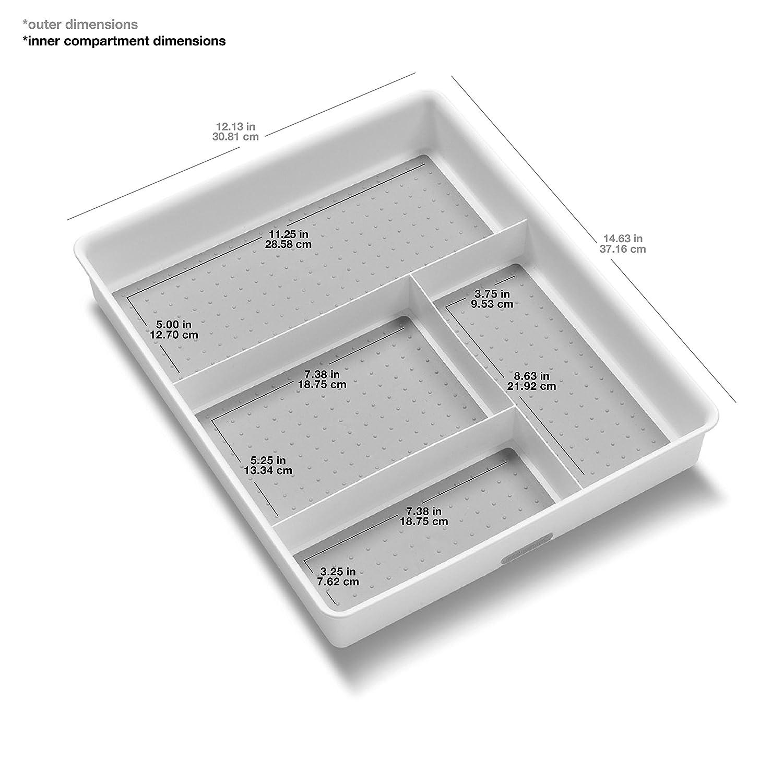 zusammensteckbar madesmart Interlocking 8/Schubladeneins/ätze wei/ß